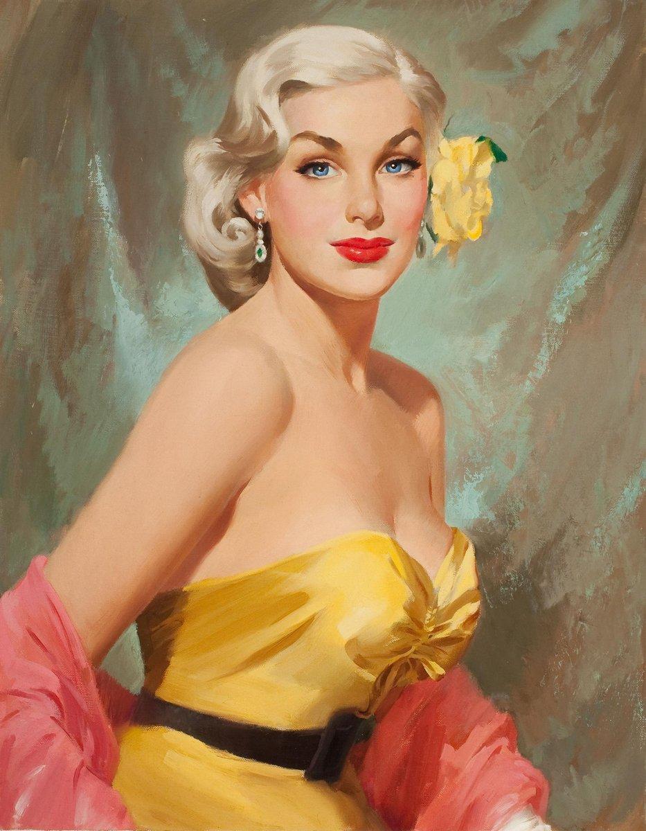 Искусство, картина Деворс Билли «Девушка с розой в волосах», 20x26 см, на бумагеПин-ап<br>Постер на холсте или бумаге. Любого нужного вам размера. В раме или без. Подвес в комплекте. Трехслойная надежная упаковка. Доставим в любую точку России. Вам осталось только повесить картину на стену!<br>