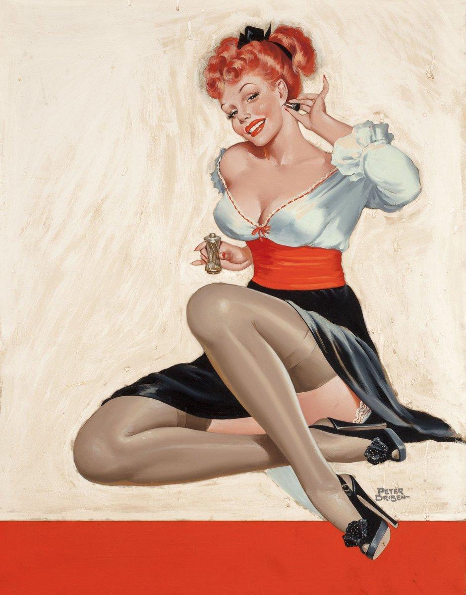 Искусство, картина Драйбен Петер «Девушка с духами», 20x26 см, на бумагеПин-ап<br>Постер на холсте или бумаге. Любого нужного вам размера. В раме или без. Подвес в комплекте. Трехслойная надежная упаковка. Доставим в любую точку России. Вам осталось только повесить картину на стену!<br>