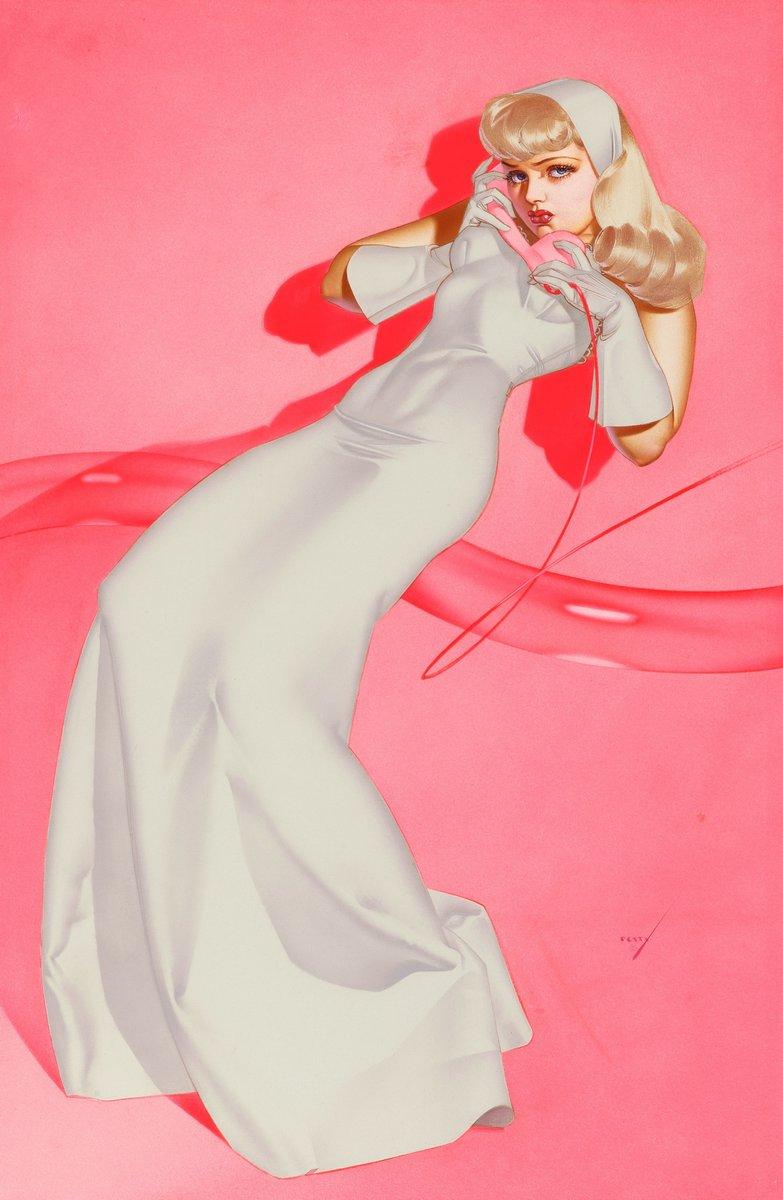Искусство, картина Петти Джордж «Белое платье», 20x31 см, на бумагеПин-ап<br>Постер на холсте или бумаге. Любого нужного вам размера. В раме или без. Подвес в комплекте. Трехслойная надежная упаковка. Доставим в любую точку России. Вам осталось только повесить картину на стену!<br>