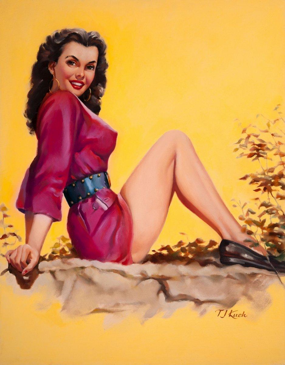 Пин-ап, картина Ти Джей Кук «Девушка в красном платье», 20x26 см, на бумагеПин-ап<br>Постер на холсте или бумаге. Любого нужного вам размера. В раме или без. Подвес в комплекте. Трехслойная надежная упаковка. Доставим в любую точку России. Вам осталось только повесить картину на стену!<br>