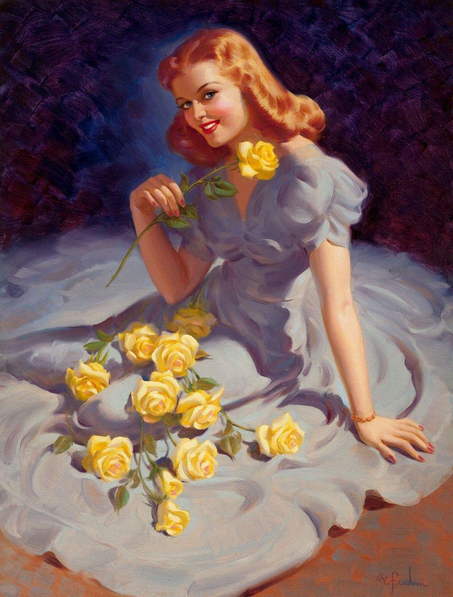 Искусство, картина Фрам Арт «Желтые розы», 20x26 см, на бумагеПин-ап<br>Постер на холсте или бумаге. Любого нужного вам размера. В раме или без. Подвес в комплекте. Трехслойная надежная упаковка. Доставим в любую точку России. Вам осталось только повесить картину на стену!<br>