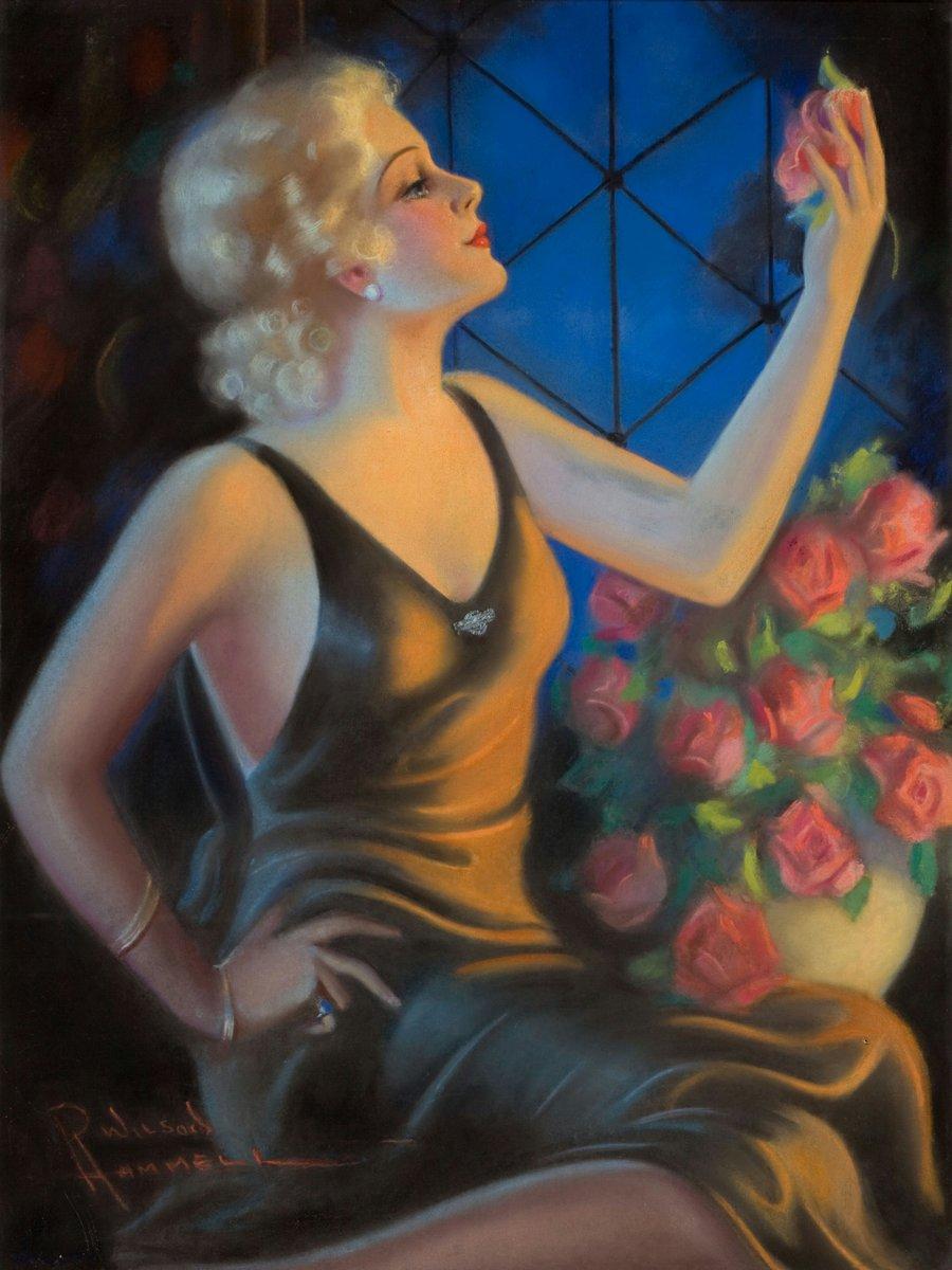 Искусство, картина Фраш Перл «Девушка с розами», 20x27 см, на бумагеПин-ап<br>Постер на холсте или бумаге. Любого нужного вам размера. В раме или без. Подвес в комплекте. Трехслойная надежная упаковка. Доставим в любую точку России. Вам осталось только повесить картину на стену!<br>