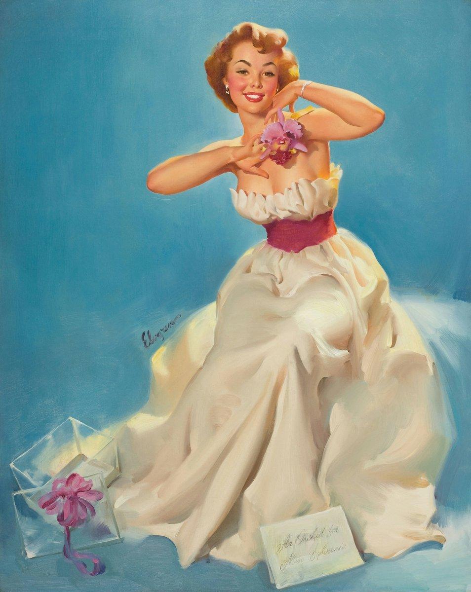Искусство, картина Элвгрен Джил «Девушка с цветком», 20x25 см, на бумагеПин-ап<br>Постер на холсте или бумаге. Любого нужного вам размера. В раме или без. Подвес в комплекте. Трехслойная надежная упаковка. Доставим в любую точку России. Вам осталось только повесить картину на стену!<br>