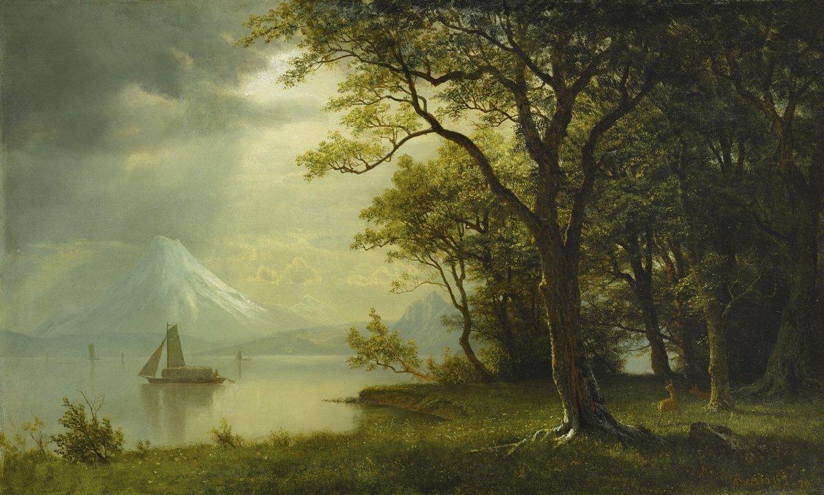 Бирстадт Альберт «Гора Худ, река Колумбия», 33x20 см, на бумагеРазные американские художники 19-20 веков<br>Постер на холсте или бумаге. Любого нужного вам размера. В раме или без. Подвес в комплекте. Трехслойная надежная упаковка. Доставим в любую точку России. Вам осталось только повесить картину на стену!<br>