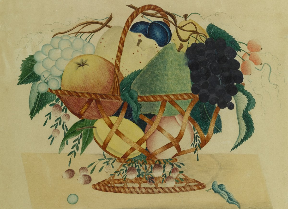 Неизвестный художник «Фрукты в плетеной вазе», 28x20 см, на бумагеРазные американские художники 19-20 веков<br>Постер на холсте или бумаге. Любого нужного вам размера. В раме или без. Подвес в комплекте. Трехслойная надежная упаковка. Доставим в любую точку России. Вам осталось только повесить картину на стену!<br>