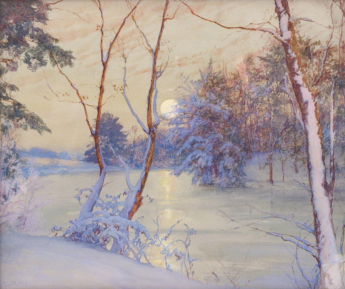 Палмер Уолтер «Луна зимой», 24x20 см, на бумагеРазные американские художники 19-20 веков<br>Постер на холсте или бумаге. Любого нужного вам размера. В раме или без. Подвес в комплекте. Трехслойная надежная упаковка. Доставим в любую точку России. Вам осталось только повесить картину на стену!<br>