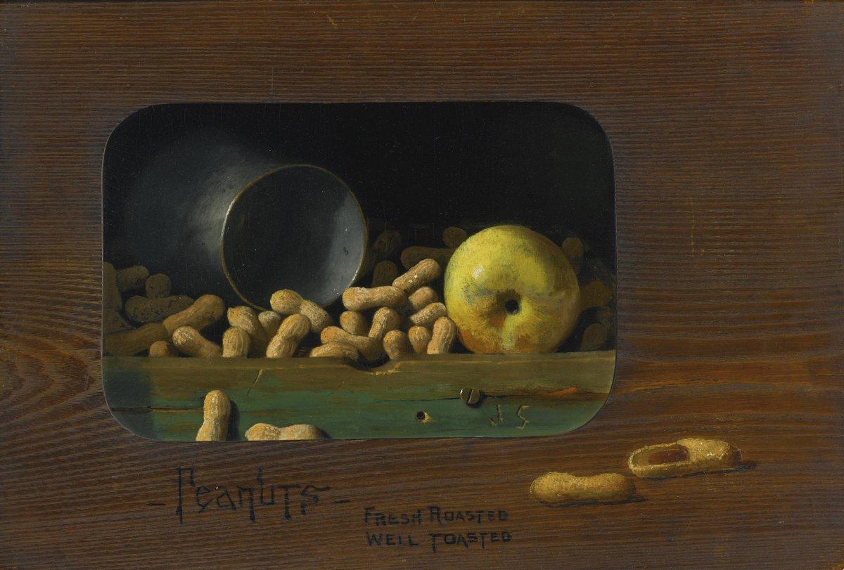 Художники, картина Пето Джон «Жареный арахис», 30x20 см, на бумагеРазные американские художники 19-20 веков<br>Постер на холсте или бумаге. Любого нужного вам размера. В раме или без. Подвес в комплекте. Трехслойная надежная упаковка. Доставим в любую точку России. Вам осталось только повесить картину на стену!<br>