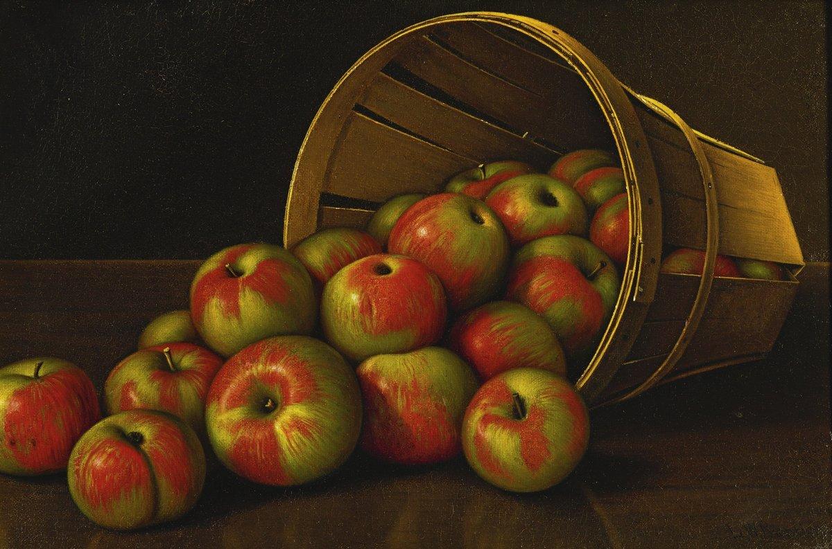 Художники, картина Прентис Леви «Натюрморт с яблоками», 30x20 см, на бумагеРазные американские художники 19-20 веков<br>Постер на холсте или бумаге. Любого нужного вам размера. В раме или без. Подвес в комплекте. Трехслойная надежная упаковка. Доставим в любую точку России. Вам осталось только повесить картину на стену!<br>