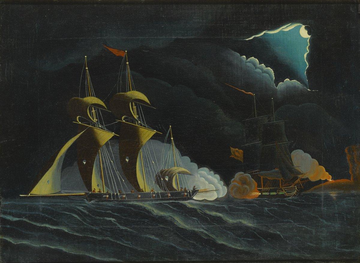Томас Чамберс «Пиратские корабли», 27x20 см, на бумагеРазные американские художники 19-20 веков<br>Постер на холсте или бумаге. Любого нужного вам размера. В раме или без. Подвес в комплекте. Трехслойная надежная упаковка. Доставим в любую точку России. Вам осталось только повесить картину на стену!<br>