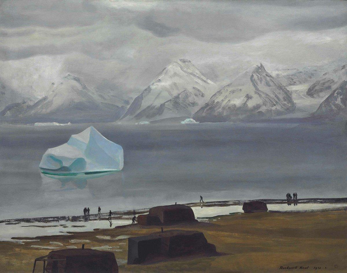 Художники, картина Весенняя оттепель, Гренландия, 25x20 см, на бумагеКент Рокуэлл<br>Постер на холсте или бумаге. Любого нужного вам размера. В раме или без. Подвес в комплекте. Трехслойная надежная упаковка. Доставим в любую точку России. Вам осталось только повесить картину на стену!<br>