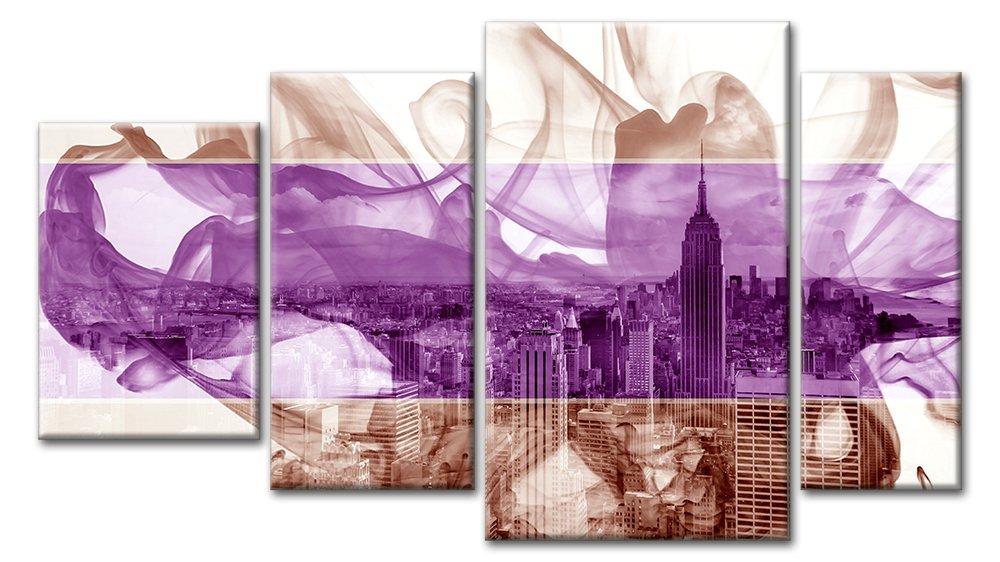 Модульная картина «Краски над городом», 89x50 см, модульная картинаГорода<br>Модульная картина на натуральном холсте и деревянном подрамнике. Подвес в комплекте. Трехслойная надежная упаковка. Доставим в любую точку России. Вам осталось только повесить картину на стену!<br>
