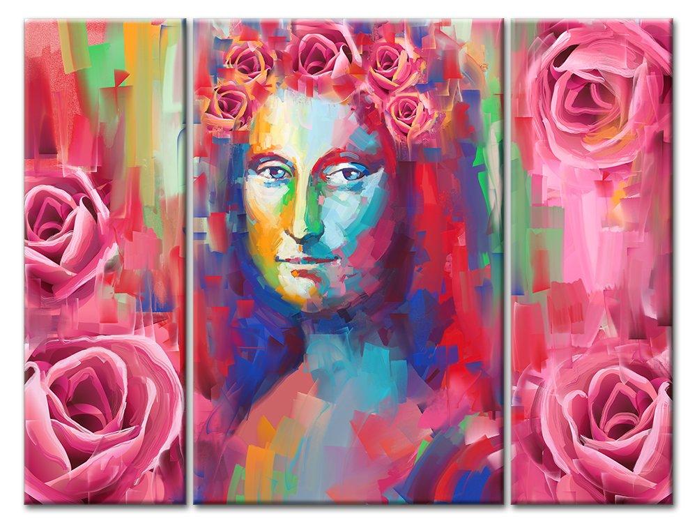 Модульная картина «Мона Лиза в розовом», 67x50 см, модульная картинаЛюди<br>Модульная картина на натуральном холсте и деревянном подрамнике. Подвес в комплекте. Трехслойная надежная упаковка. Доставим в любую точку России. Вам осталось только повесить картину на стену!<br>