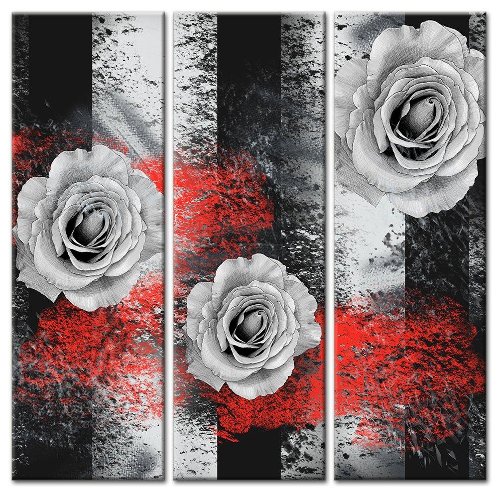 Модульная картина «Каменные розы»Цветы<br>Модульная картина на натуральном холсте и деревянном подрамнике. Подвес в комплекте. Трехслойная надежная упаковка. Доставим в любую точку России. Вам осталось только повесить картину на стену!<br>