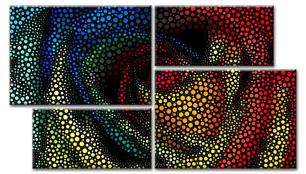Модульная картина «Абстрактная роза», 88x50 см, модульная картинаЦветы<br>Модульная картина на натуральном холсте и деревянном подрамнике. Подвес в комплекте. Трехслойная надежная упаковка. Доставим в любую точку России. Вам осталось только повесить картину на стену!<br>