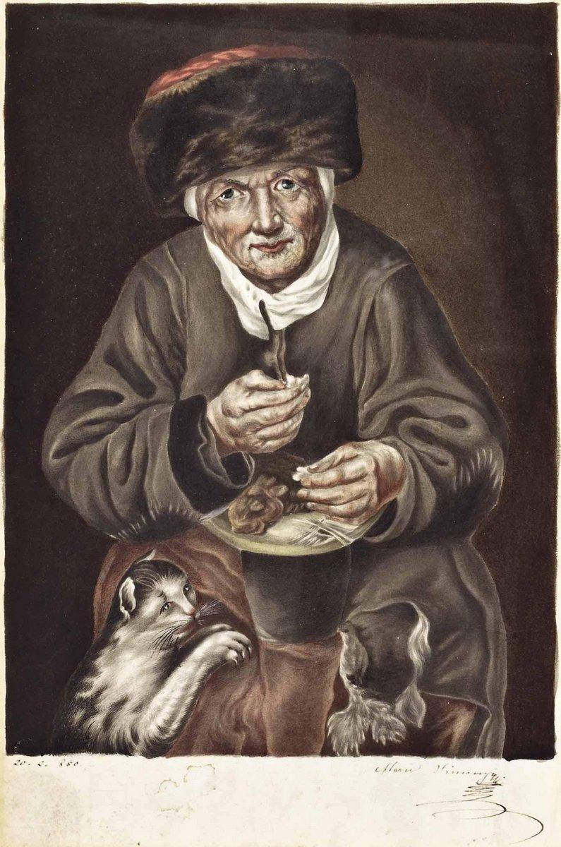 Кошки, картина Вимони Мари «Женщина кормит кошку», 20x30 см, на бумагеКошки<br>Постер на холсте или бумаге. Любого нужного вам размера. В раме или без. Подвес в комплекте. Трехслойная надежная упаковка. Доставим в любую точку России. Вам осталось только повесить картину на стену!<br>