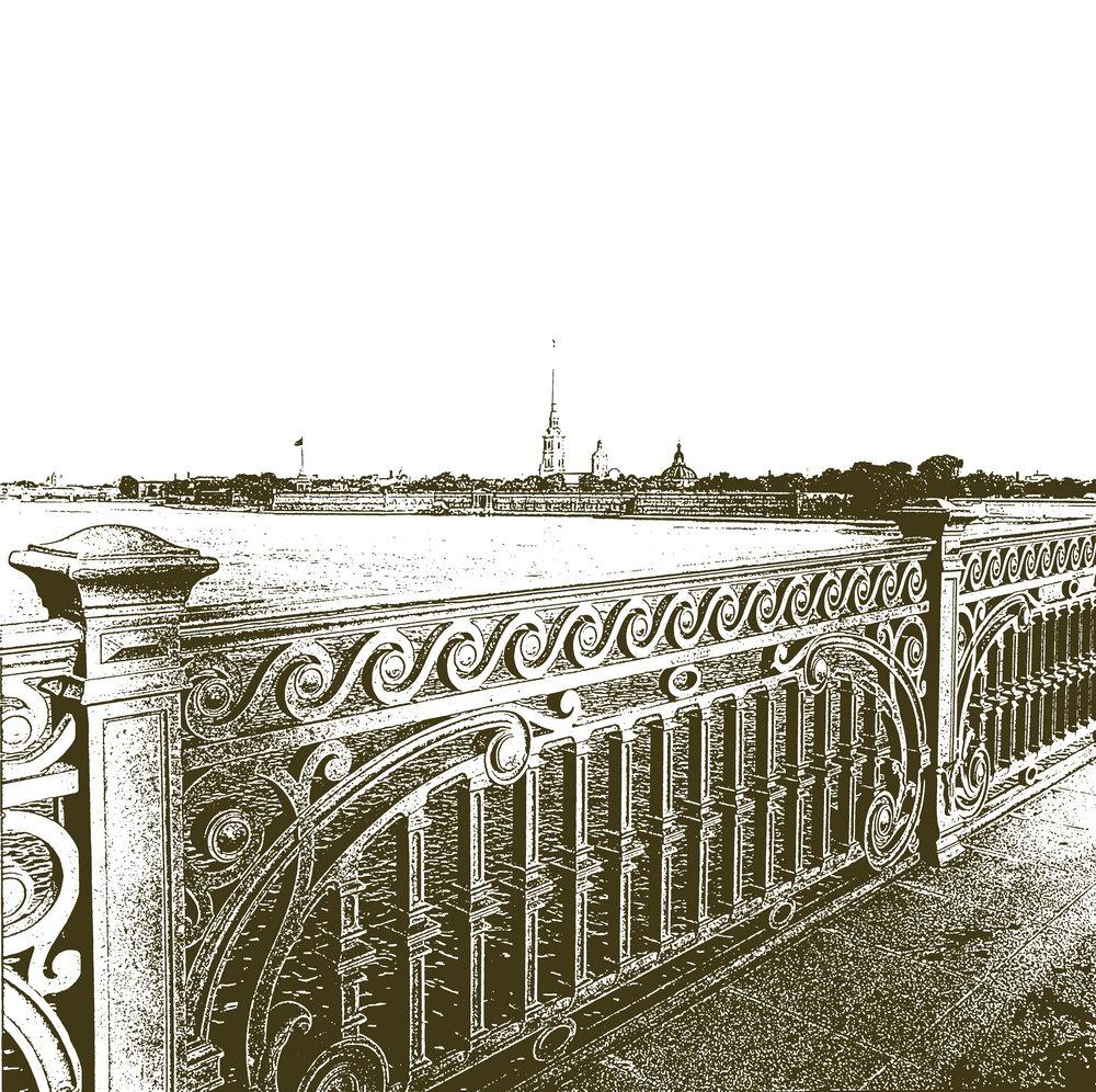 Санкт-Петербург - современная графика, картина