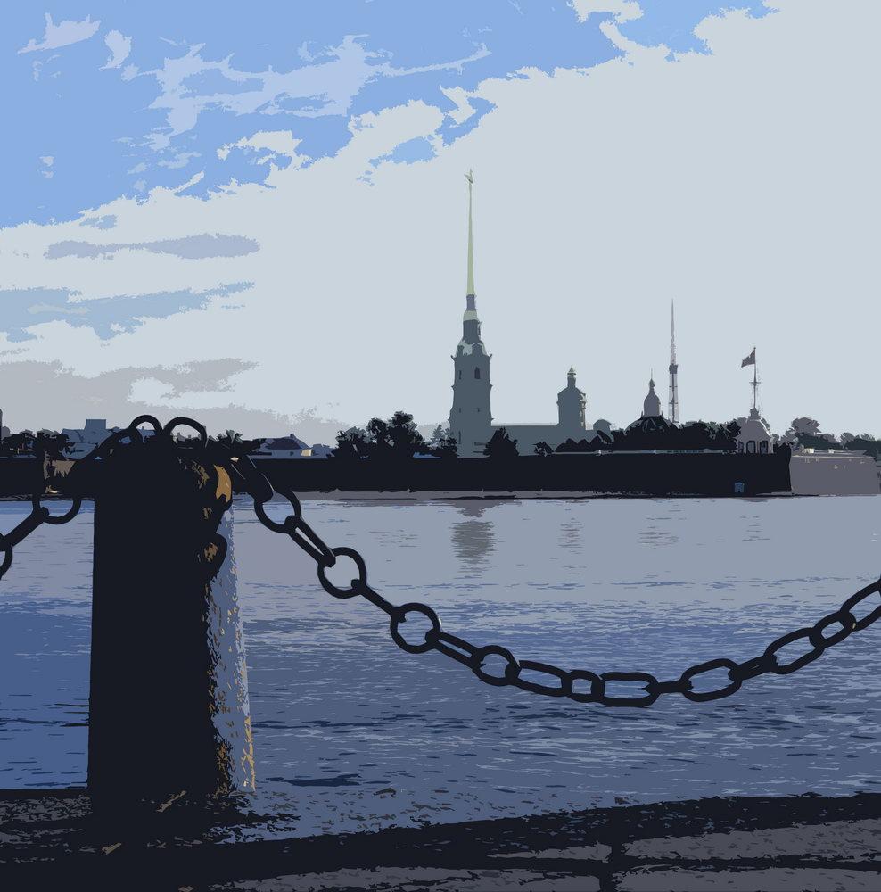 Постер Санкт-Петербург - современная графика