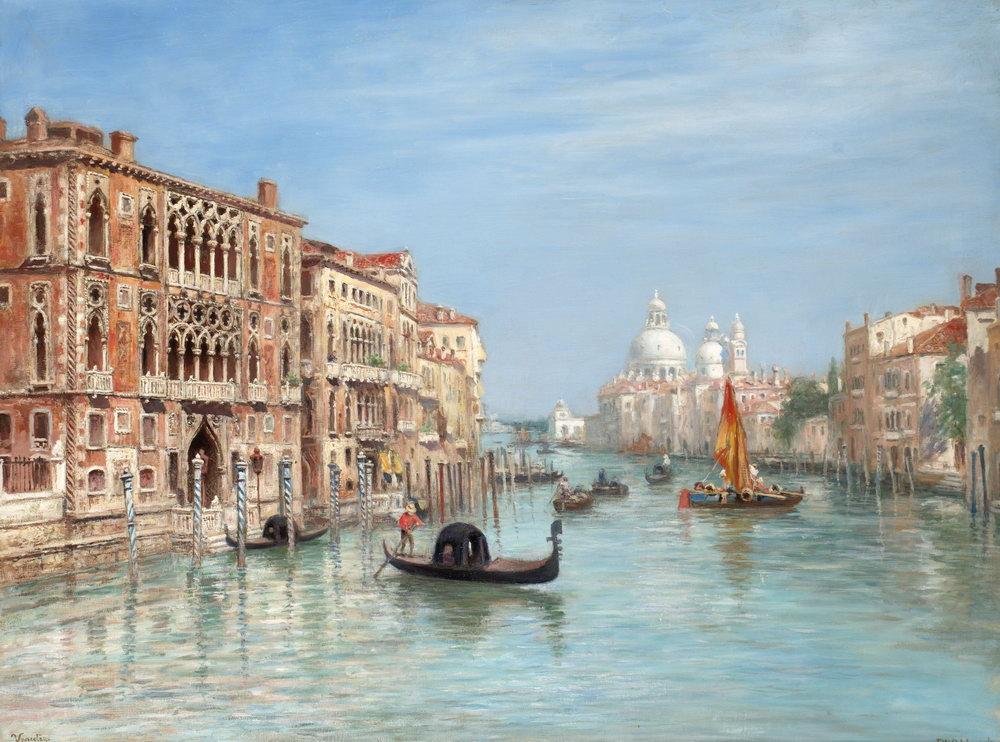 Венеция, картина Оделмарк Вильгельм Франц, ВенецияВенеция<br>Репродукция на холсте или бумаге. Любого нужного вам размера. В раме или без. Подвес в комплекте. Трехслойная надежная упаковка. Доставим в любую точку России. Вам осталось только повесить картину на стену!<br>