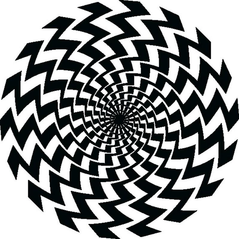 Наклейка «Гипнотическая спираль»Абстракция<br><br>