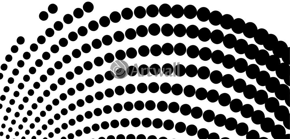 Наклейка «Чёрная волна»Абстракция<br><br>