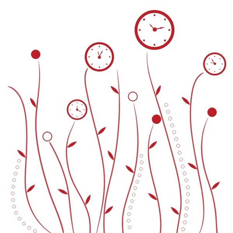 Наклейка «Часы на ветвях»Абстракция<br><br>