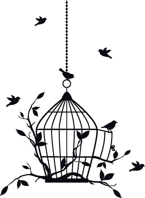 Наклейка «Клетка для птиц»Винтаж<br><br>