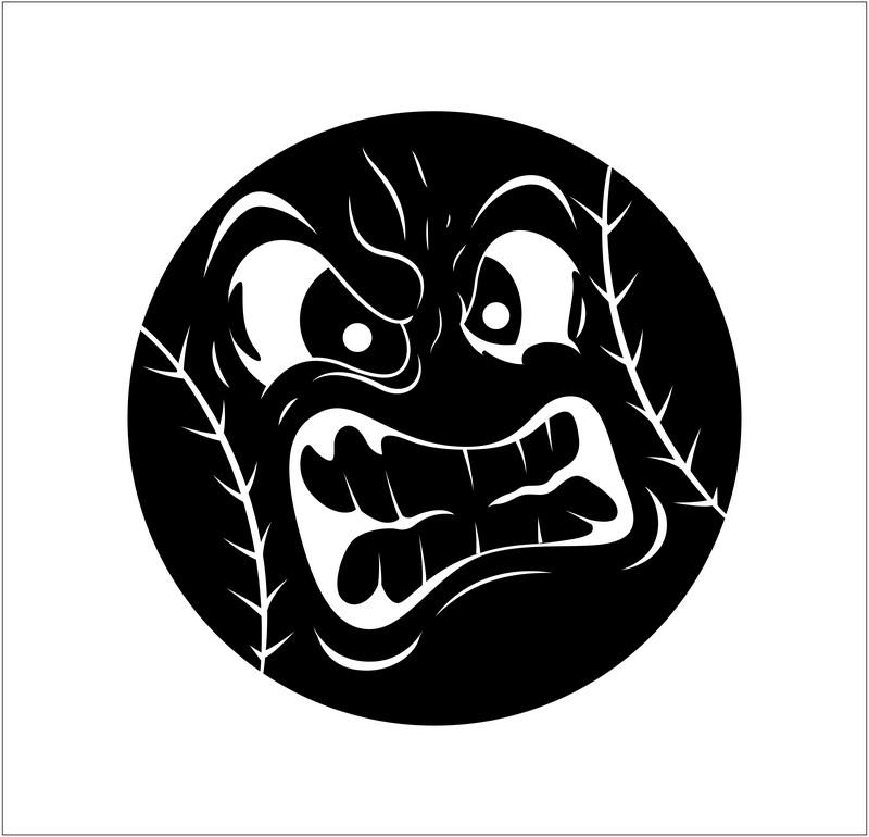 Наклейка «Злой смайлик»Волшебные существа<br><br>
