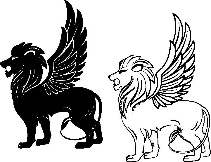 Наклейка «Летучие львы»Волшебные существа<br><br>