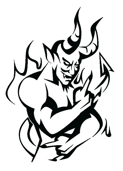 Наклейка «Демон в огне»Волшебные существа<br><br>