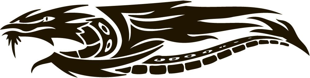 Наклейка «Летящий дракон»Волшебные существа<br><br>