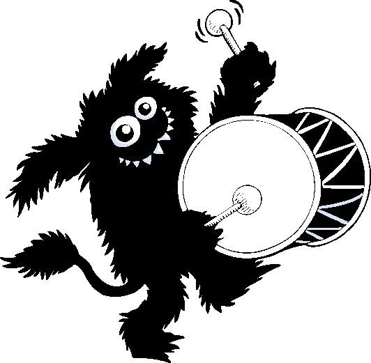 Наклейка «Тролль с барабаном»Волшебные существа<br><br>