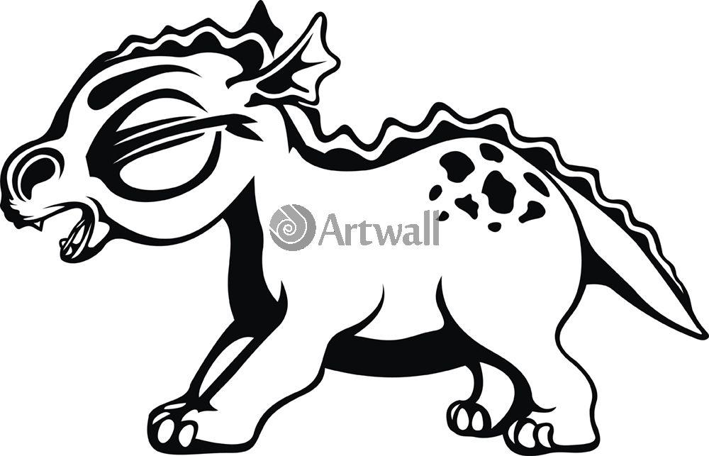 Наклейка «Динозаврик»Волшебные существа<br><br>