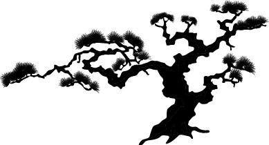 Наклейка «Пустынное дерево»