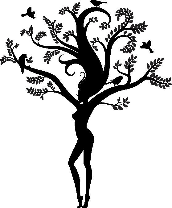 Наклейка «Девушка-дерево»Деревья<br><br>