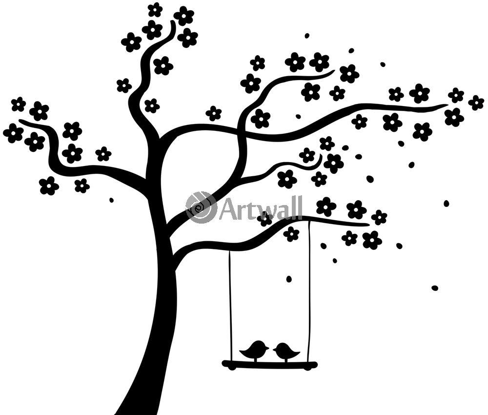 Наклейка «Птички на жордочке»Деревья<br><br>