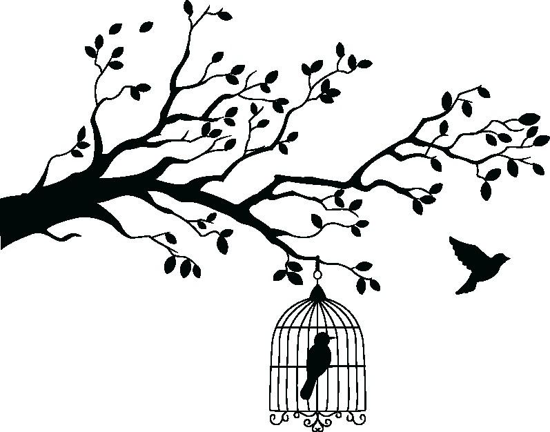 Наклейка «Свобода и неволя»Деревья<br><br>