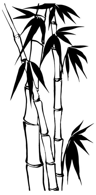 Наклейка «Три бамбука»