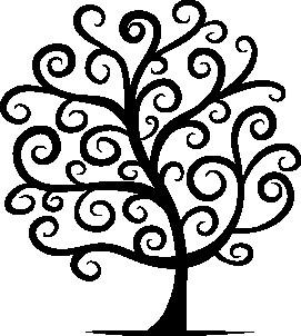 Наклейка «Ветви-узоры»
