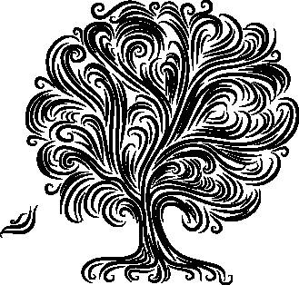 Наклейка «Волны на дереве»