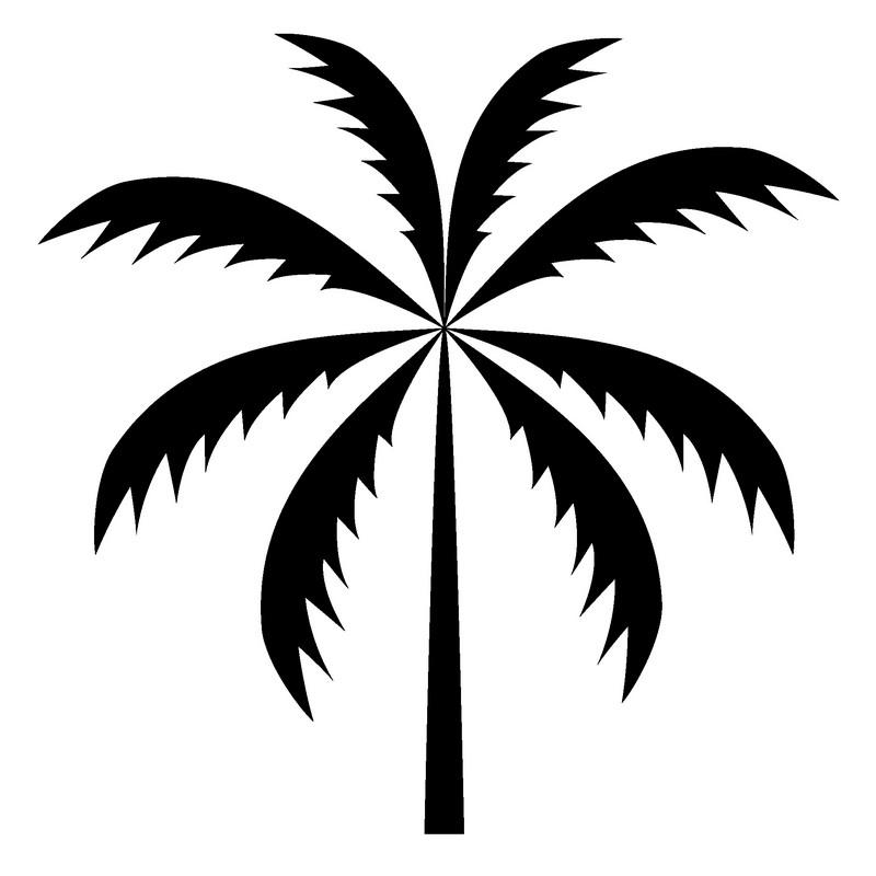 Наклейка «Ветви пальмы»