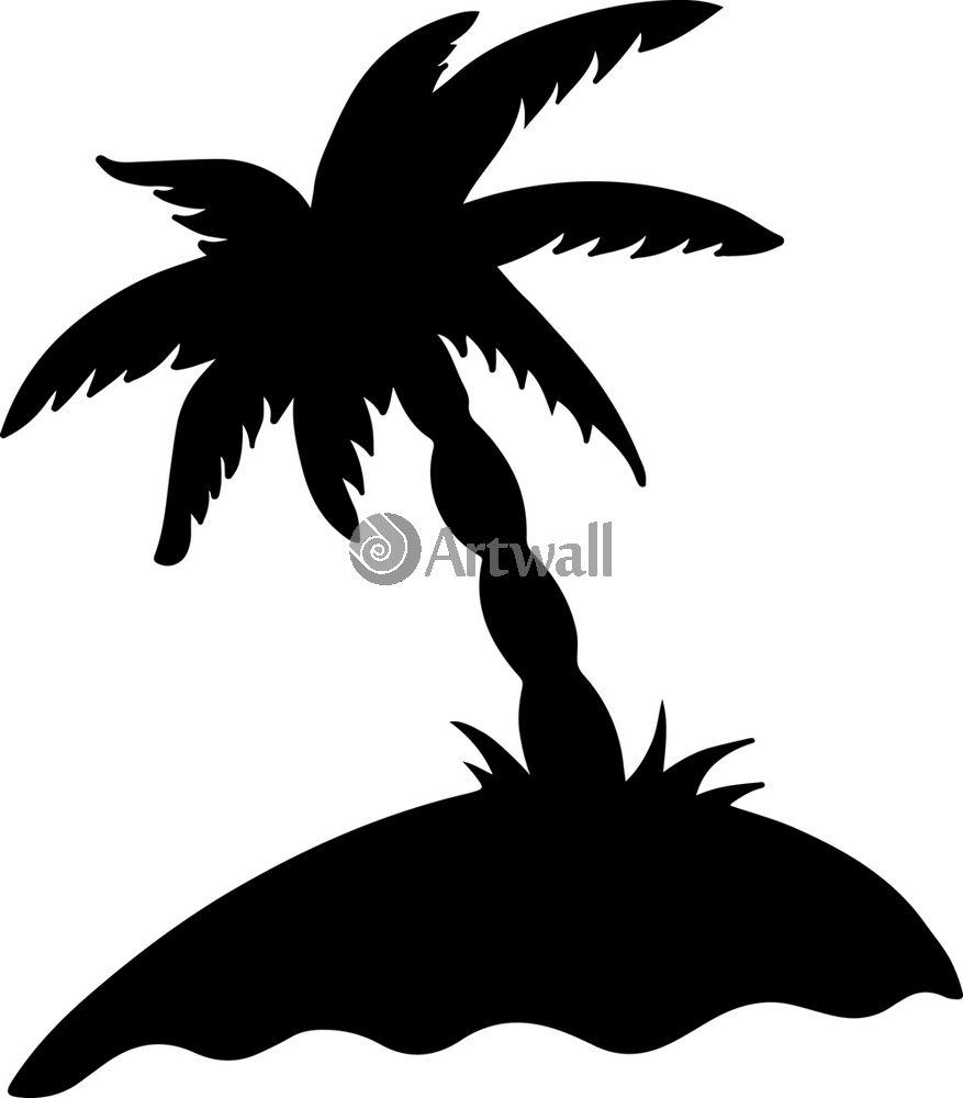 Наклейка «Одинокая пальма»Деревья<br><br>