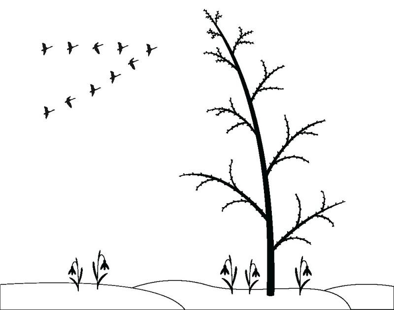 Наклейка «Птицы улетают»