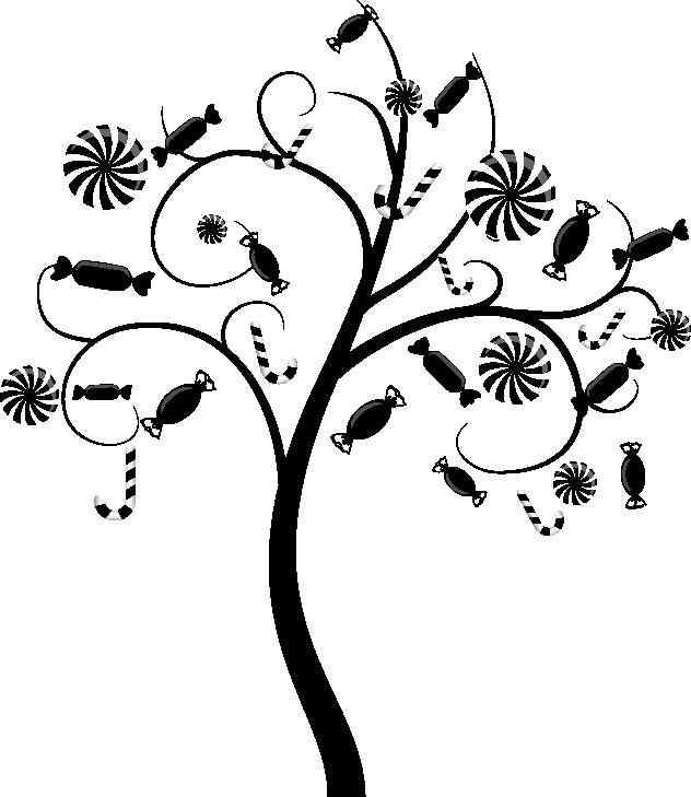 Наклейка «Дерево с конфетами»
