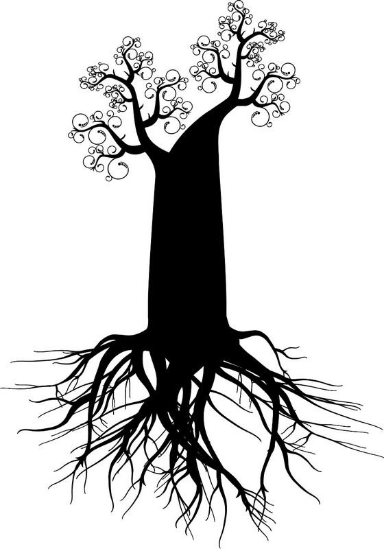 Наклейка «Могучие корни»