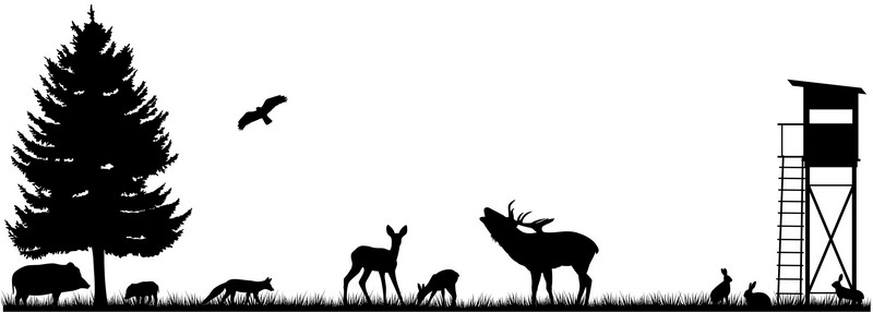 Наклейка «Животные на поляне»