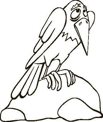 Наклейка «Грустна птица»Детские<br><br>