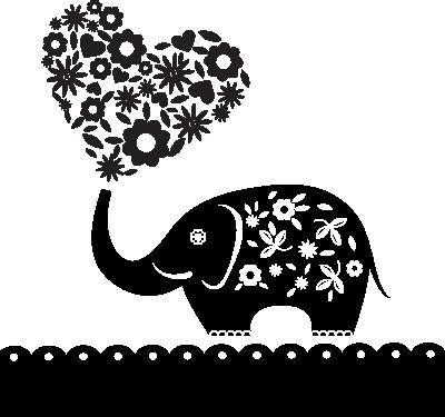 Наклейка «Слон с сердечком»Детские<br><br>