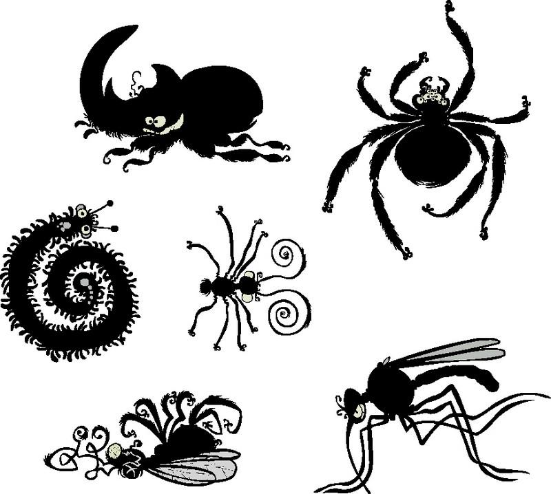Наклейка «Шестеро насекомых»Детские<br><br>