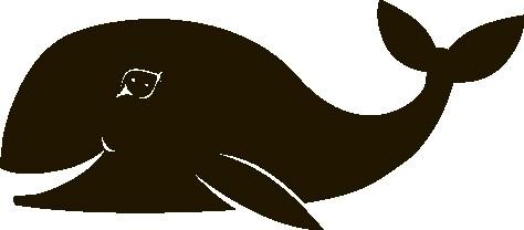 Наклейка «Довольный кит»Детские<br><br>
