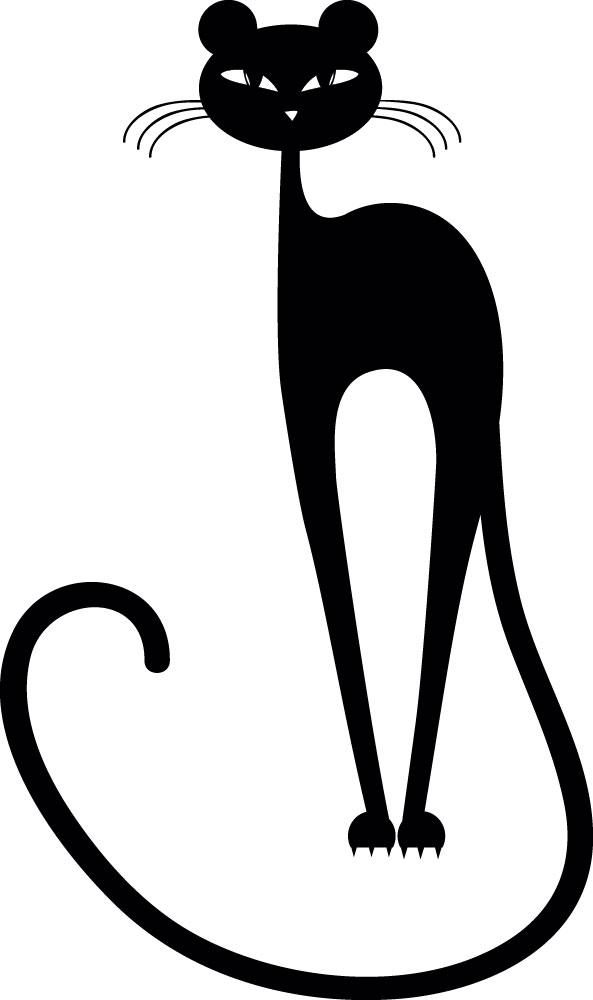 Наклейка «Кот с длинным хвостом»Детские<br><br>